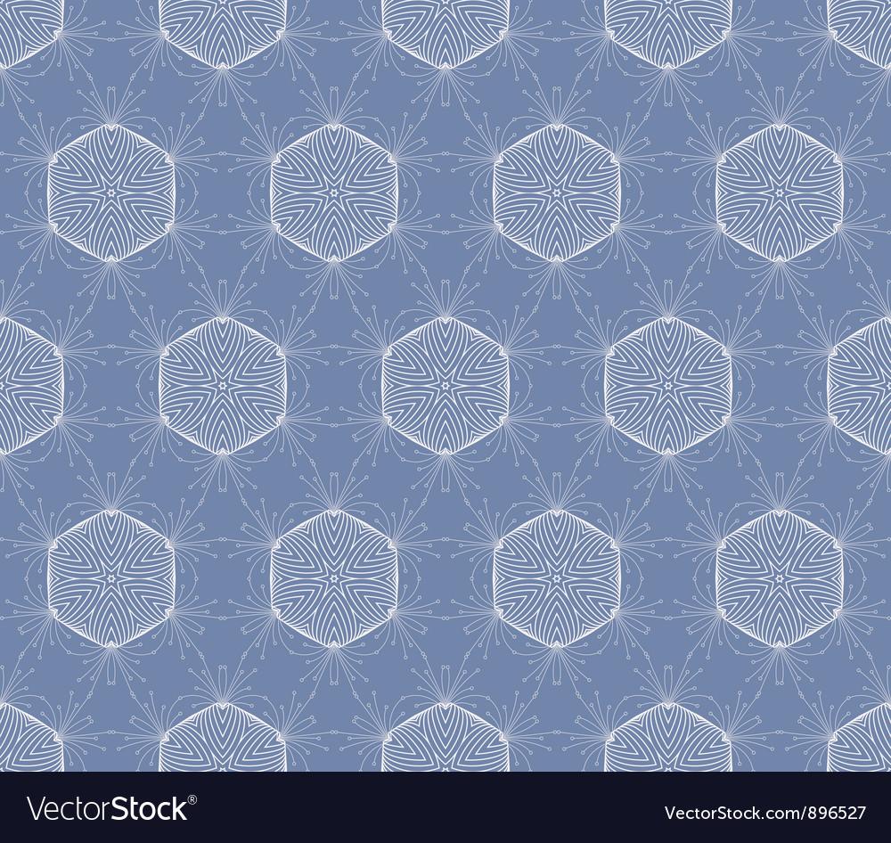 Seamless decorative blue wallpaper