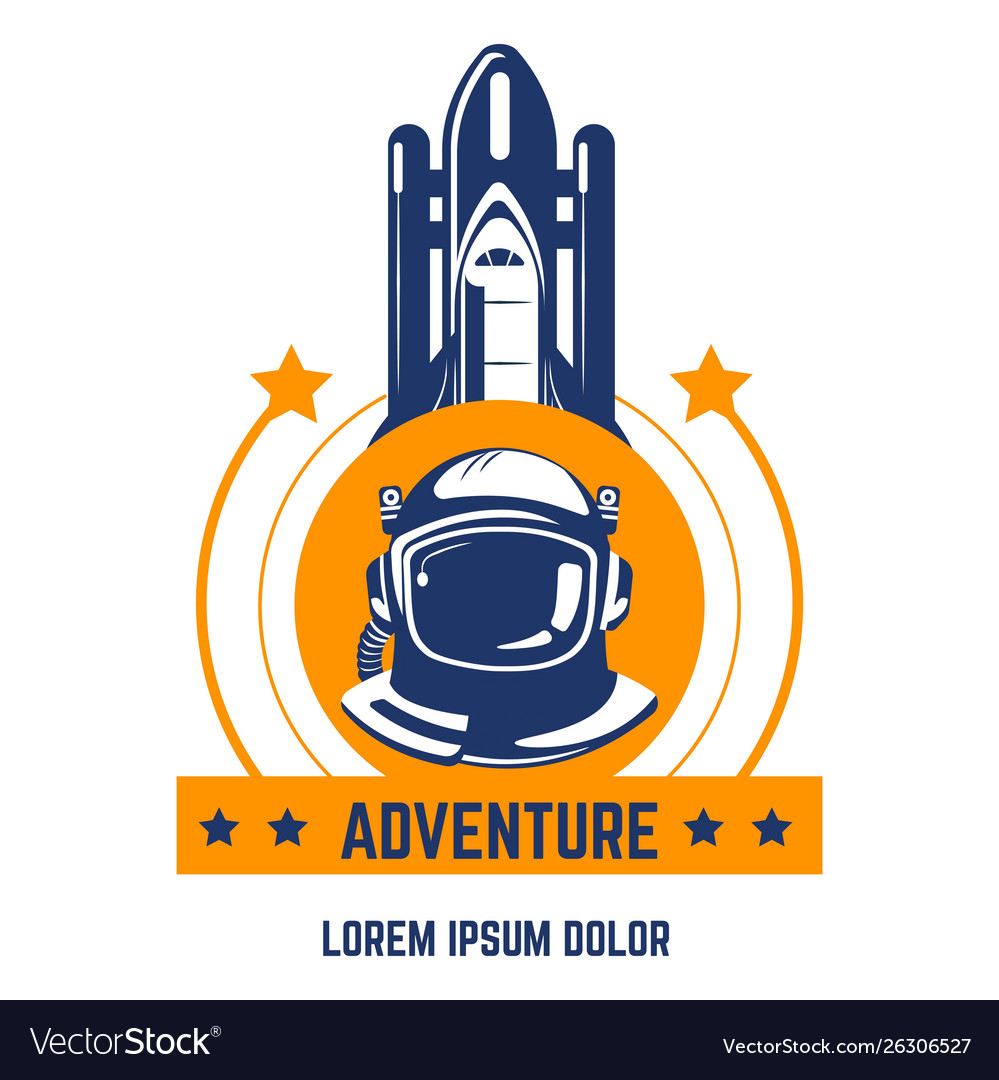 Space adventure isolated icon spaceman and