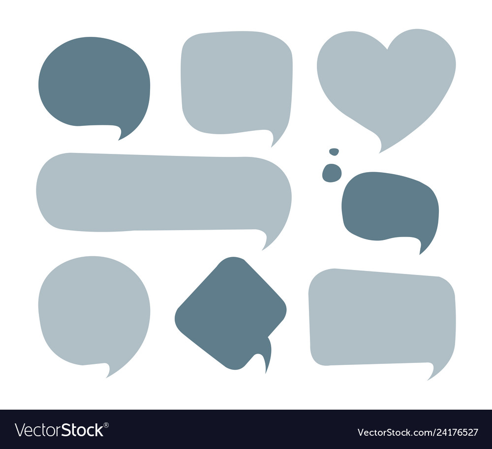 Speech bubble colorful set