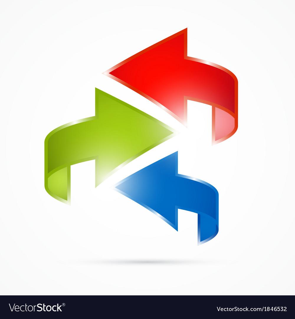 Abstract 3d Arrow Icon