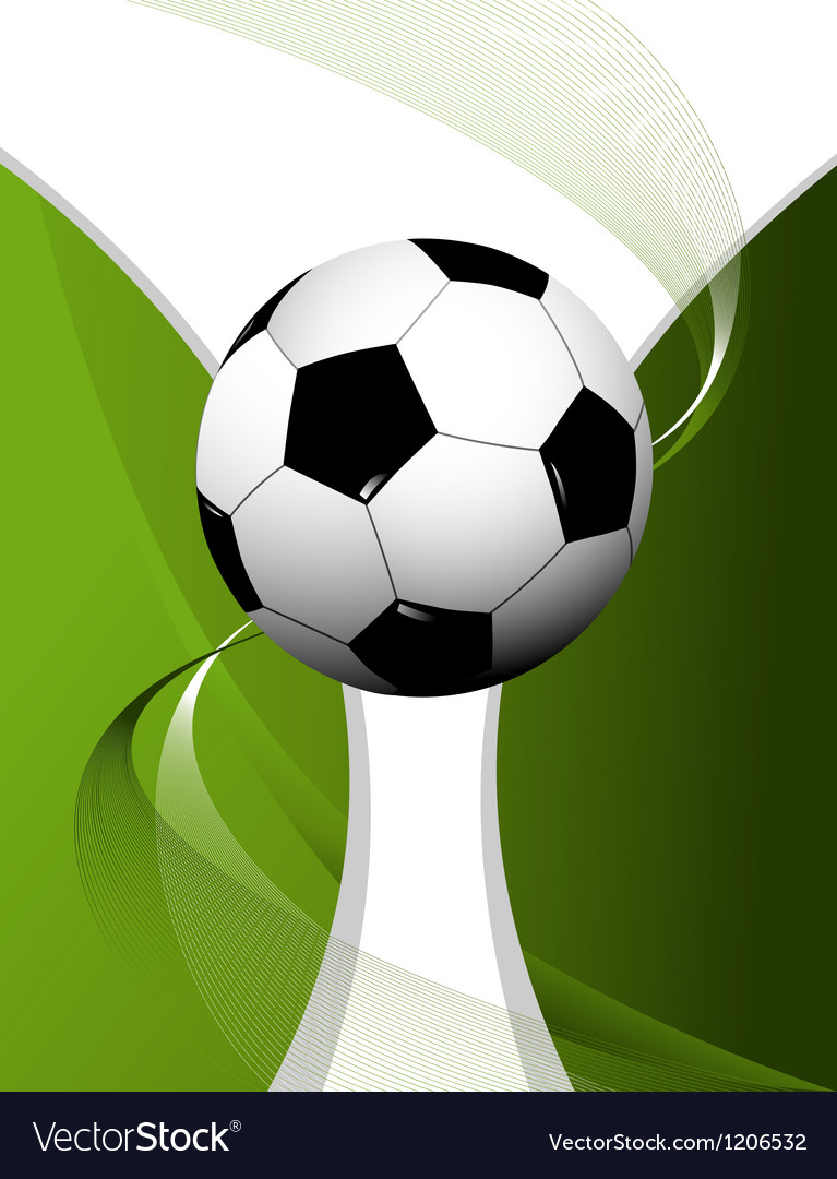 Abstract football background with cup