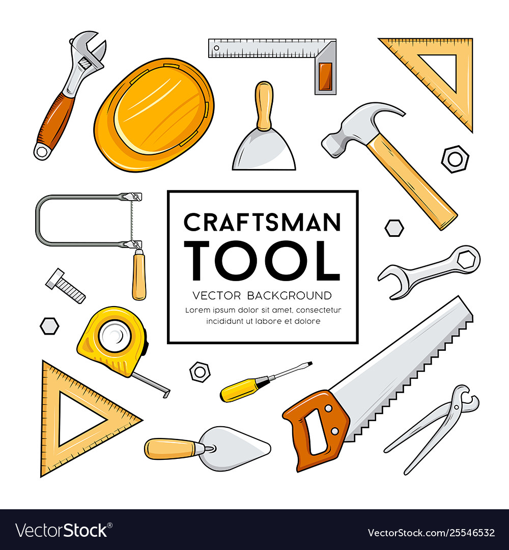 Craftsman tool collection isolated design