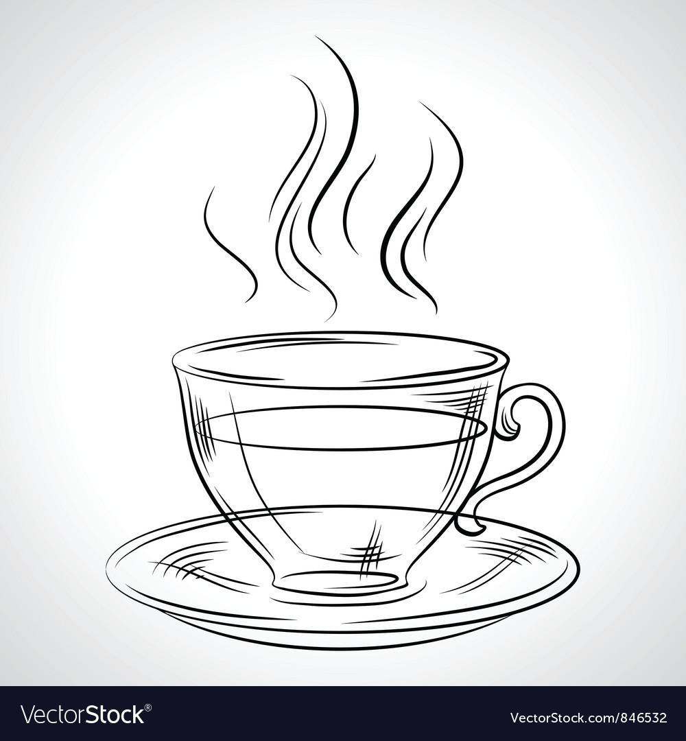 Cup Mug Hot Drink Coffee Tea Etc Royalty Free Vector Image