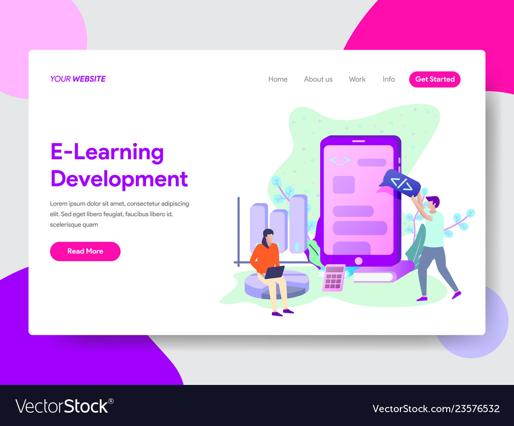 E-learning development concept