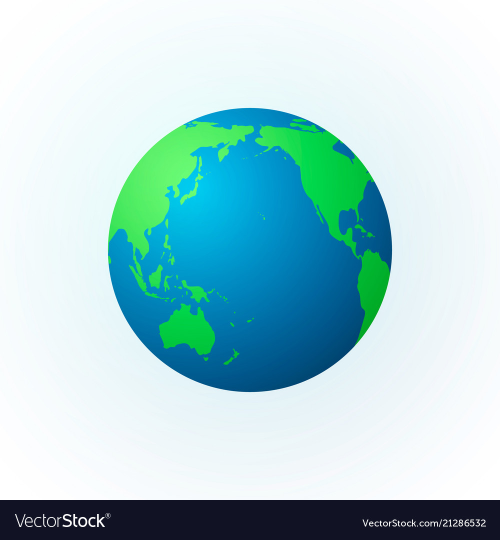 Earth in the form of a globe earth planet icon