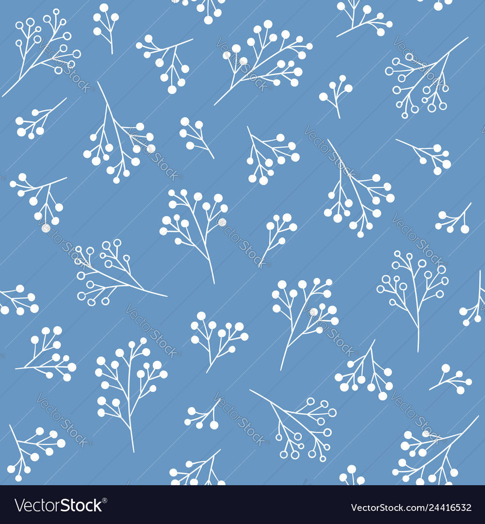 Floral Seamless Pattern Fabric Print Design Vector Image