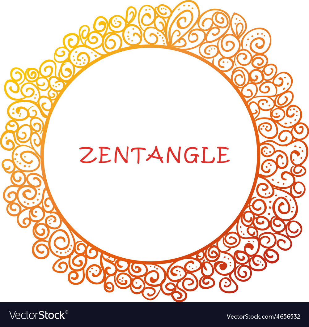 Hand drawn zentangle document template