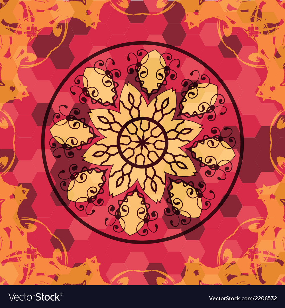Mandala like lace in red colors