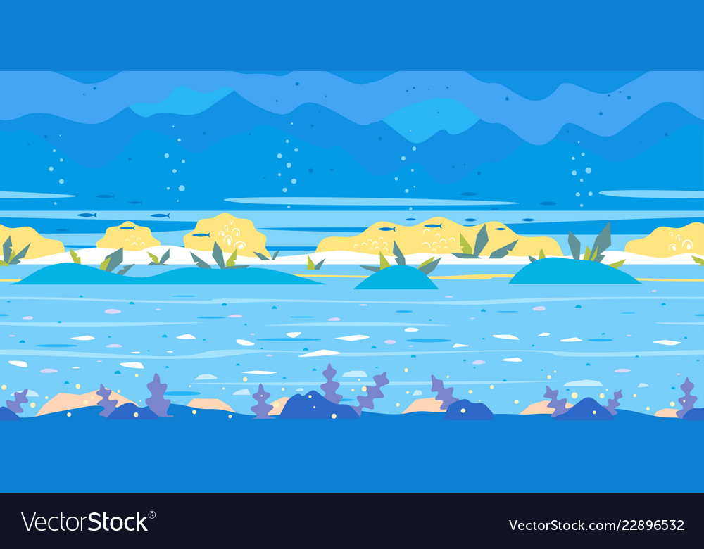 game background flat landscape Vector Image