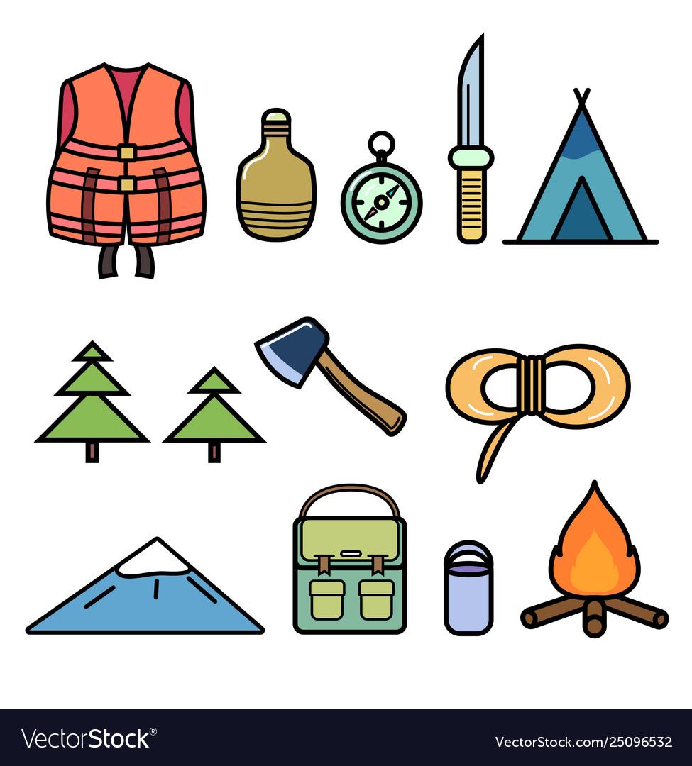 Set icons on theme hiking