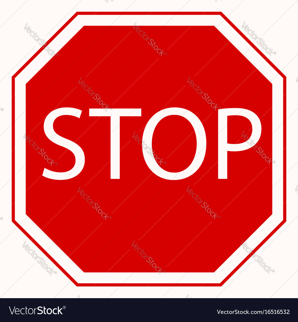 stop sign royalty free vector image vectorstock rh vectorstock com free vector stop sign download free vector stop sign download