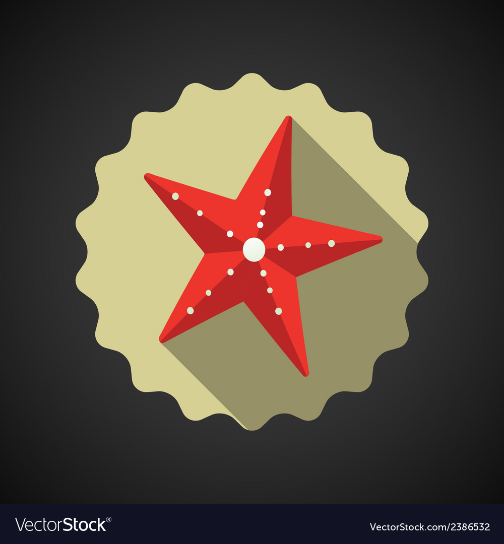 Summer travel sea star flat icon