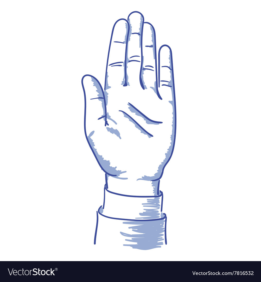 Up hand vector image