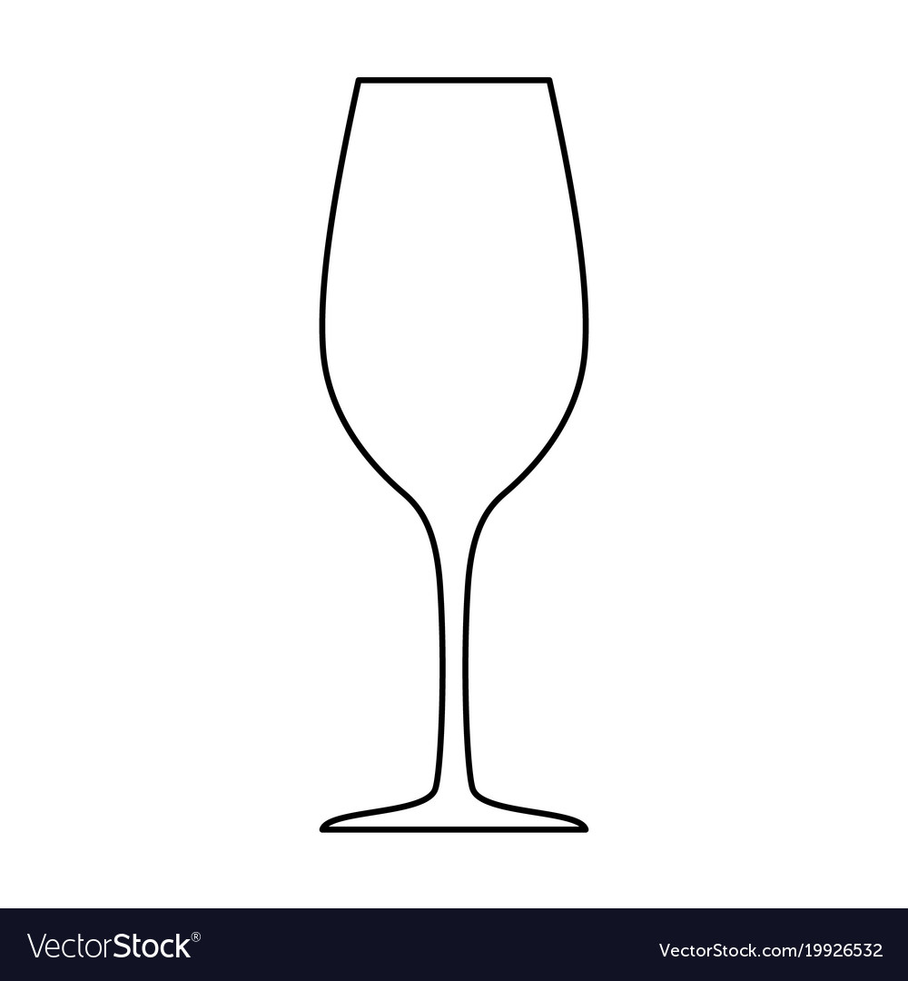 Wineglass silhouette isolated on white