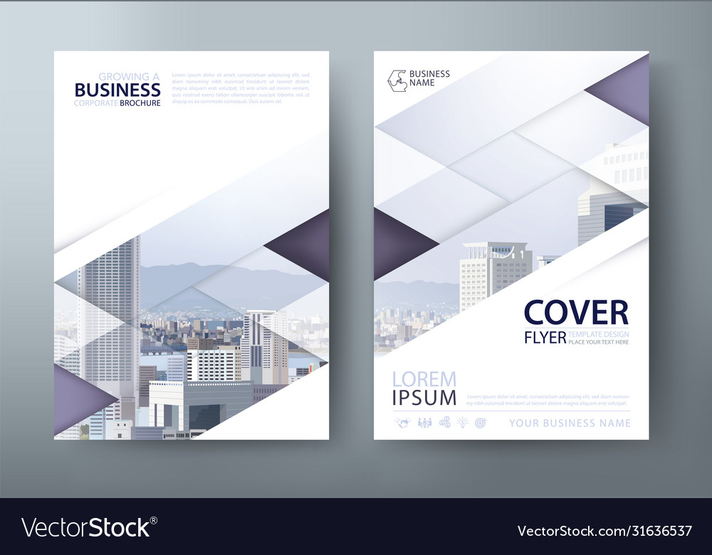 Annual report brochure flyer book cover templates