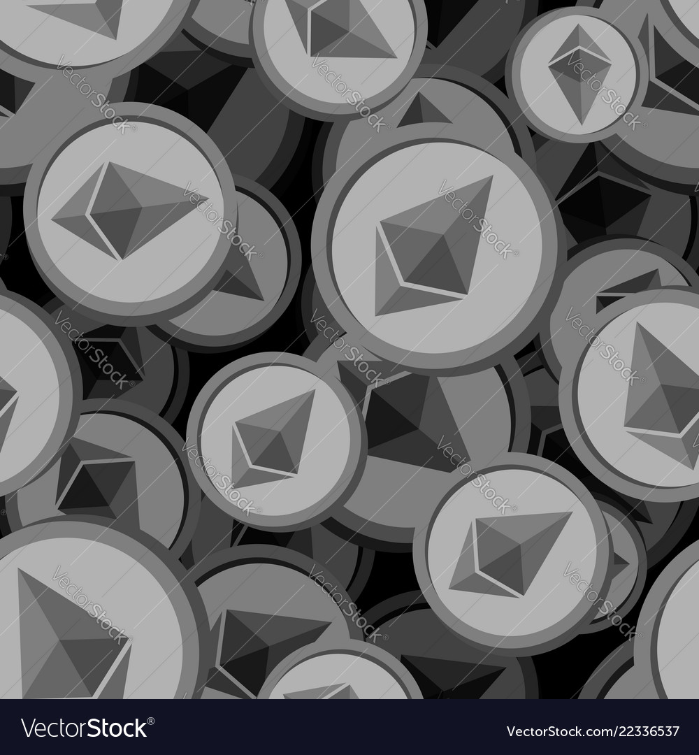 Etherium seamless pattern cryptocurrency