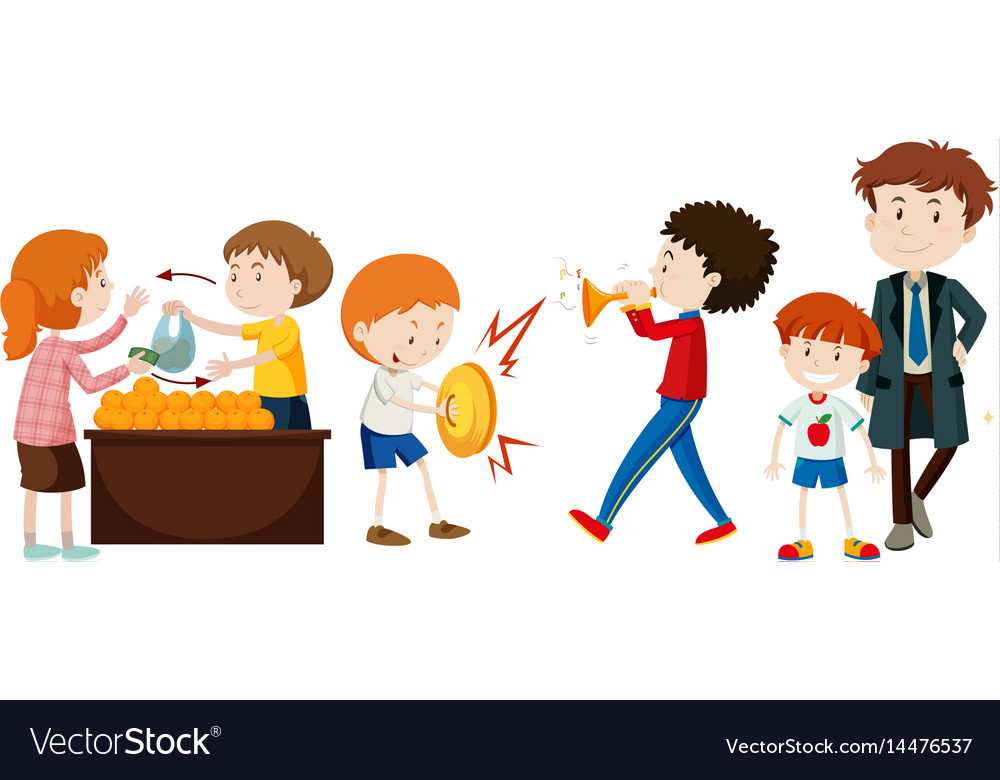 People doing different activities vector image