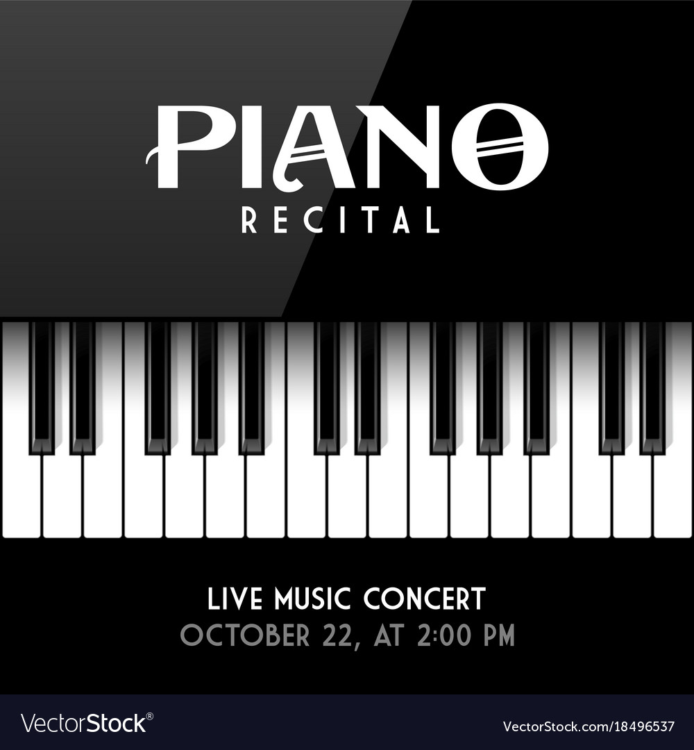 Piano Recital Poster Leaflet Or Invitation Design Vector Image