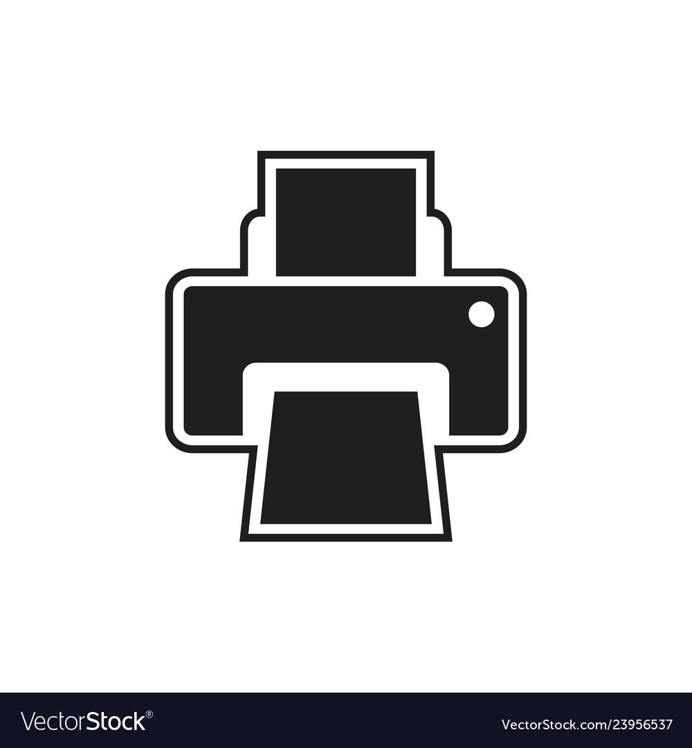 Printer icon design template
