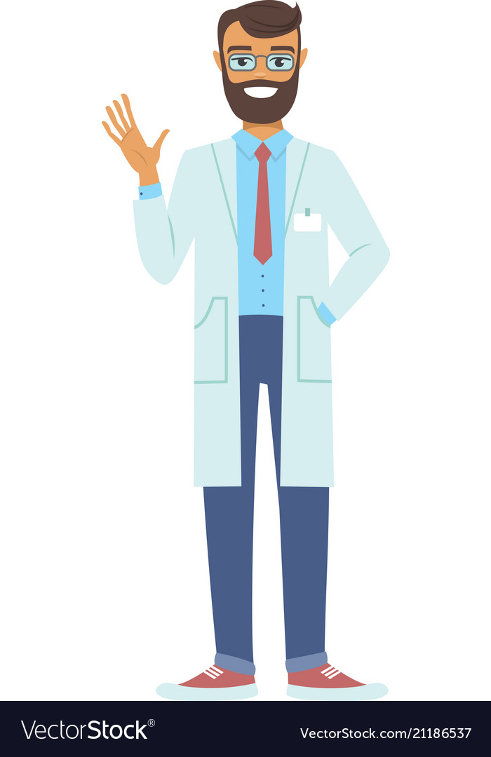 Young doctor man