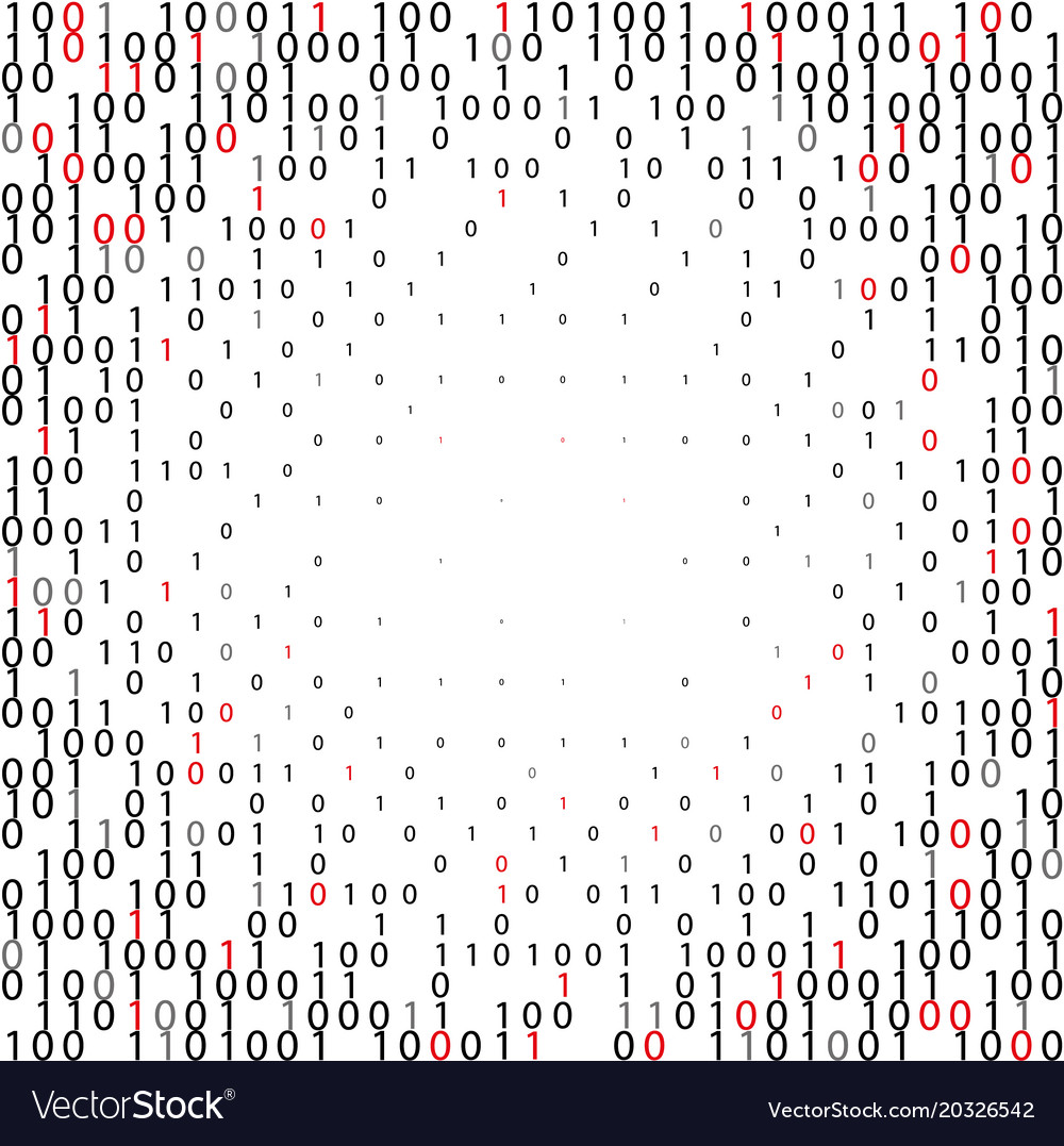Abstract binary code technology background vector image