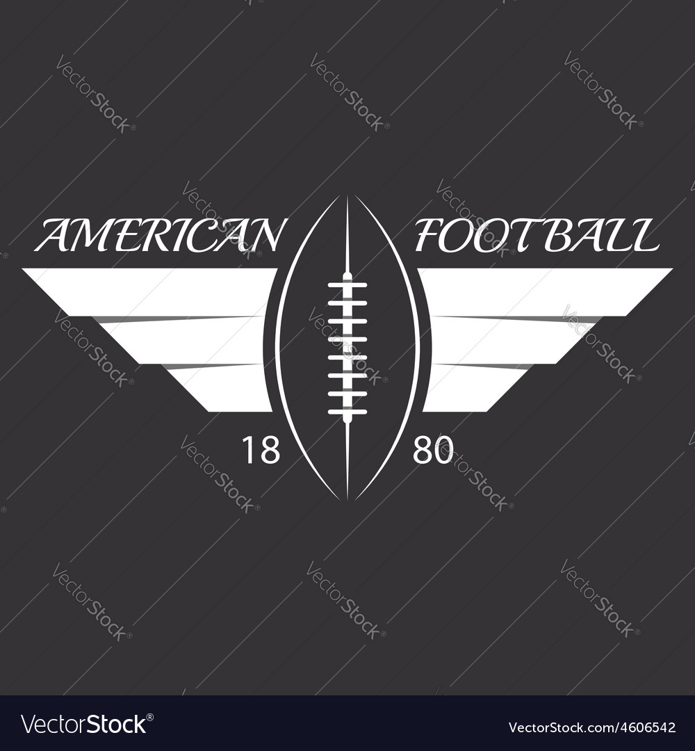 American football or rugby ball with wings sport