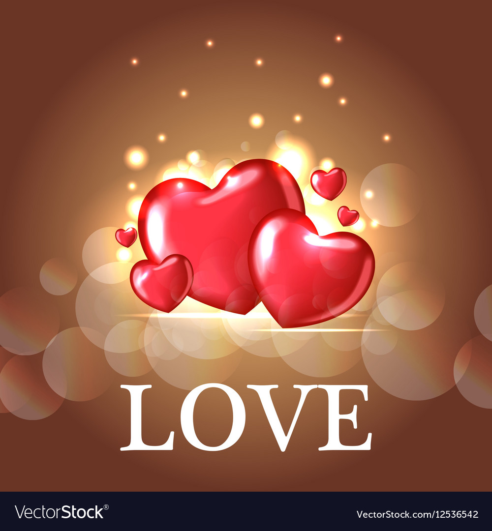 Background with Heart Shaped BalloonsTemplate of