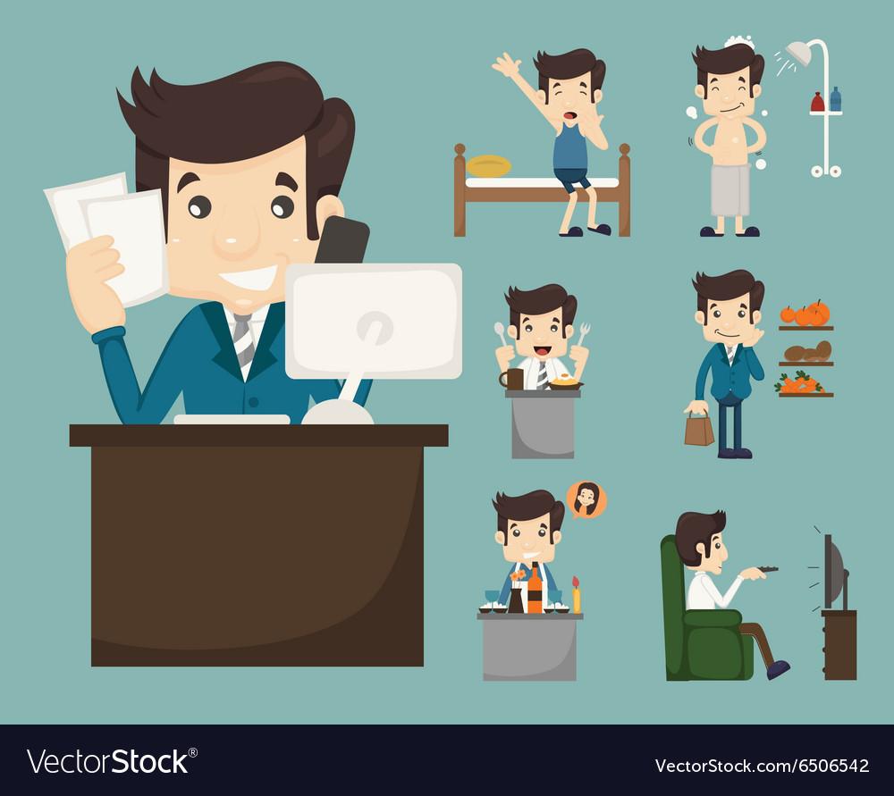Businessman routine eps10 format