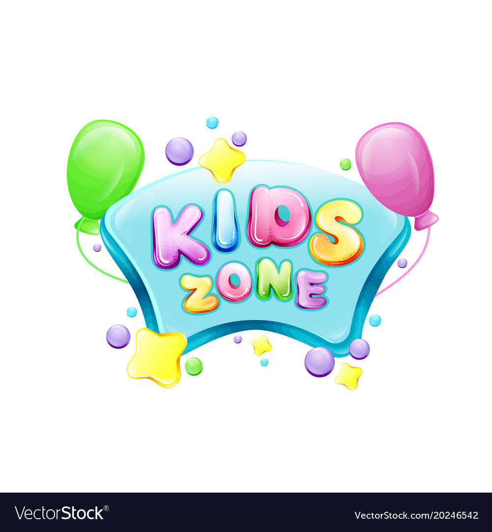 Cartoon kids zone poster template vector image