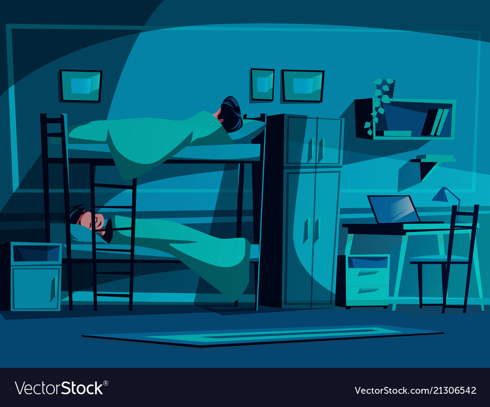 college student dormitory royalty free vector image  vectorstock