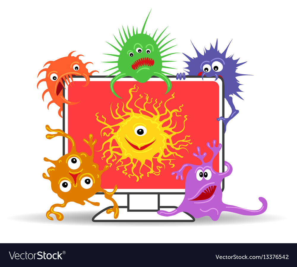 Computer virus internet security vector image