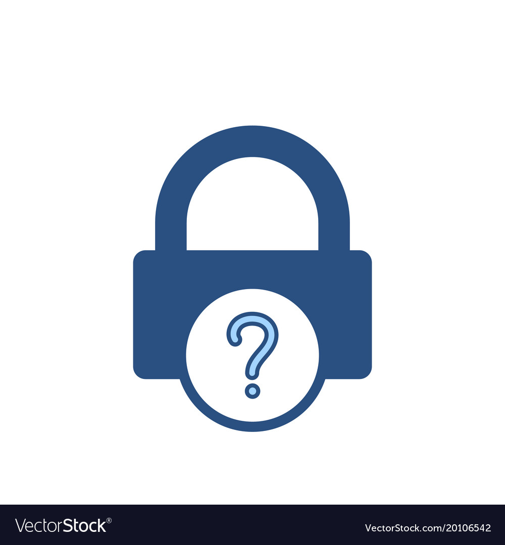 Forgot Lock Office Password Icon Royalty Free Vector Image