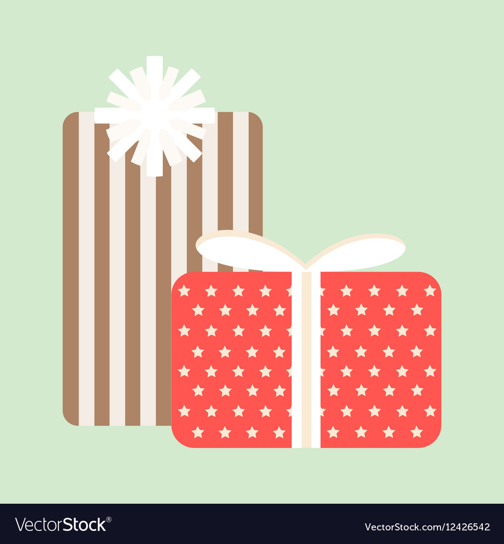 Gift box icon isolated