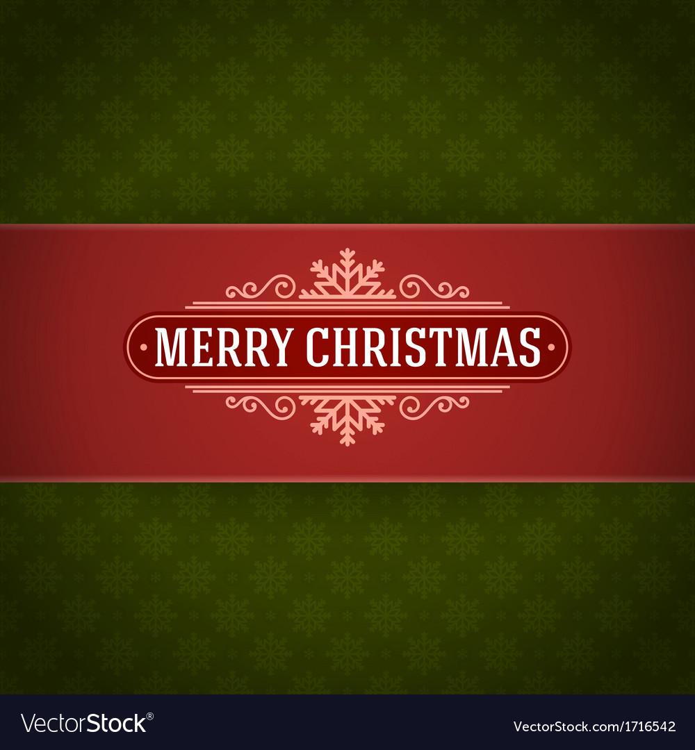 Merry Christmas postcard ornament decoration
