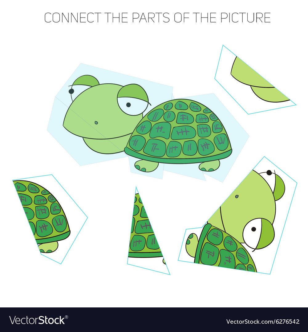 Puzzle game for chldren turtle