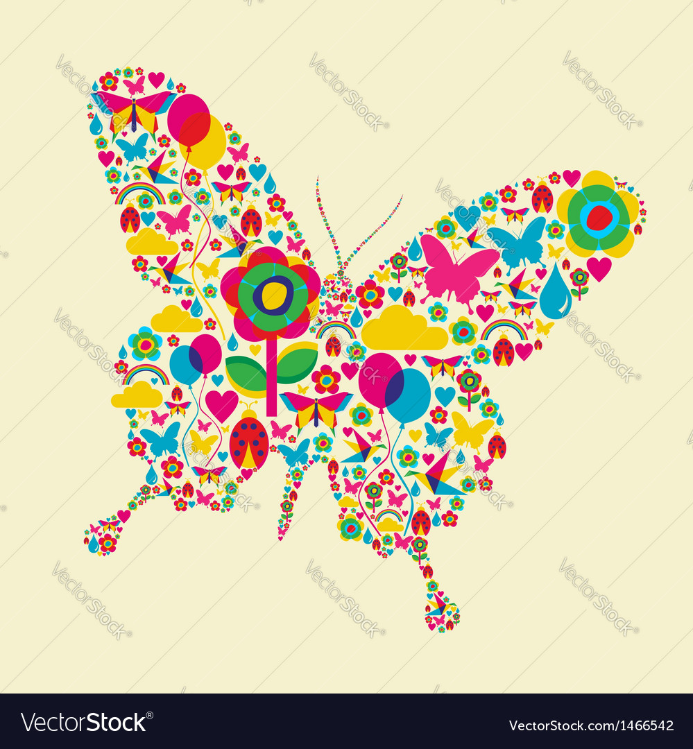 Spring time butterfly