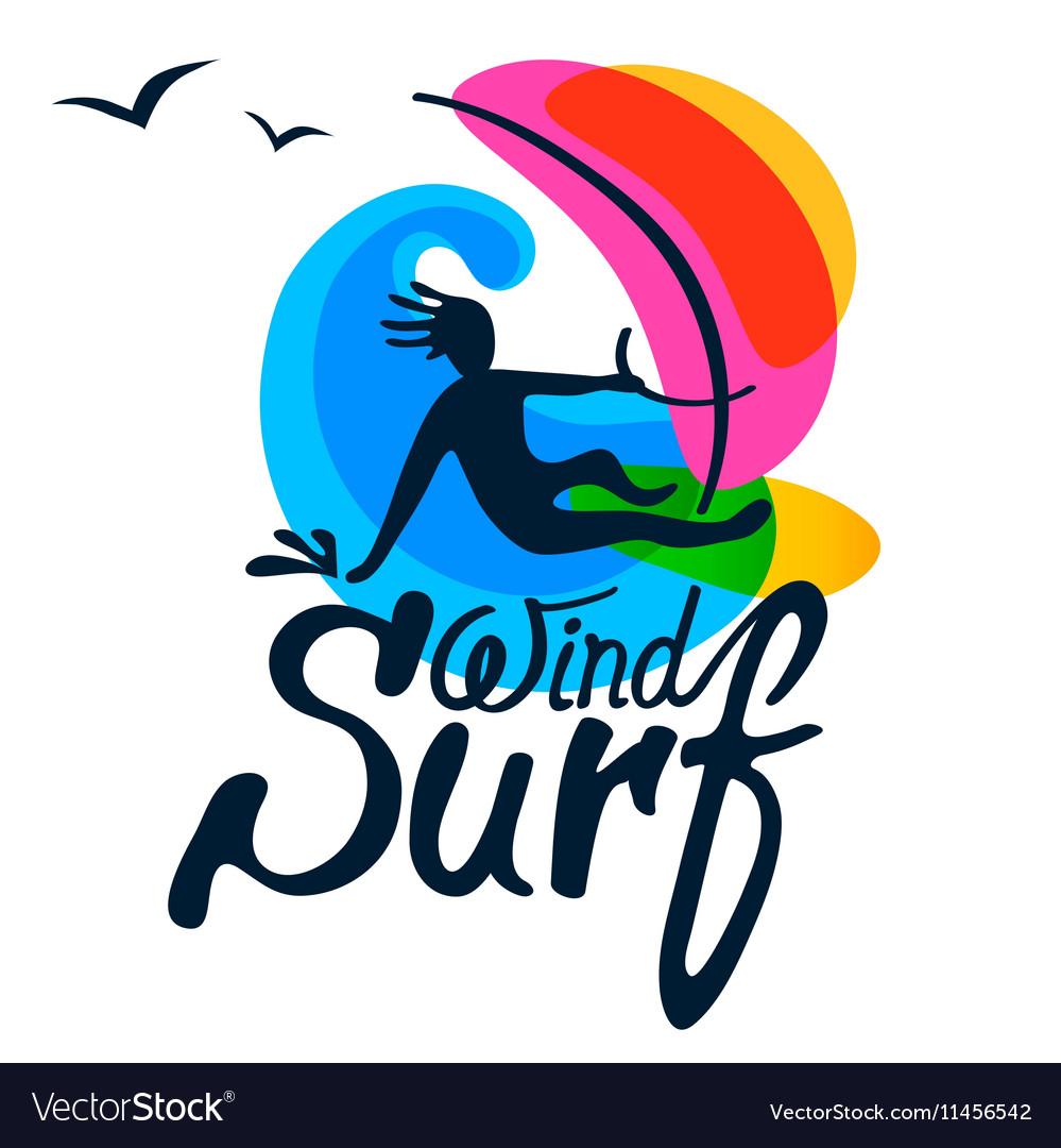 Surfer logo template