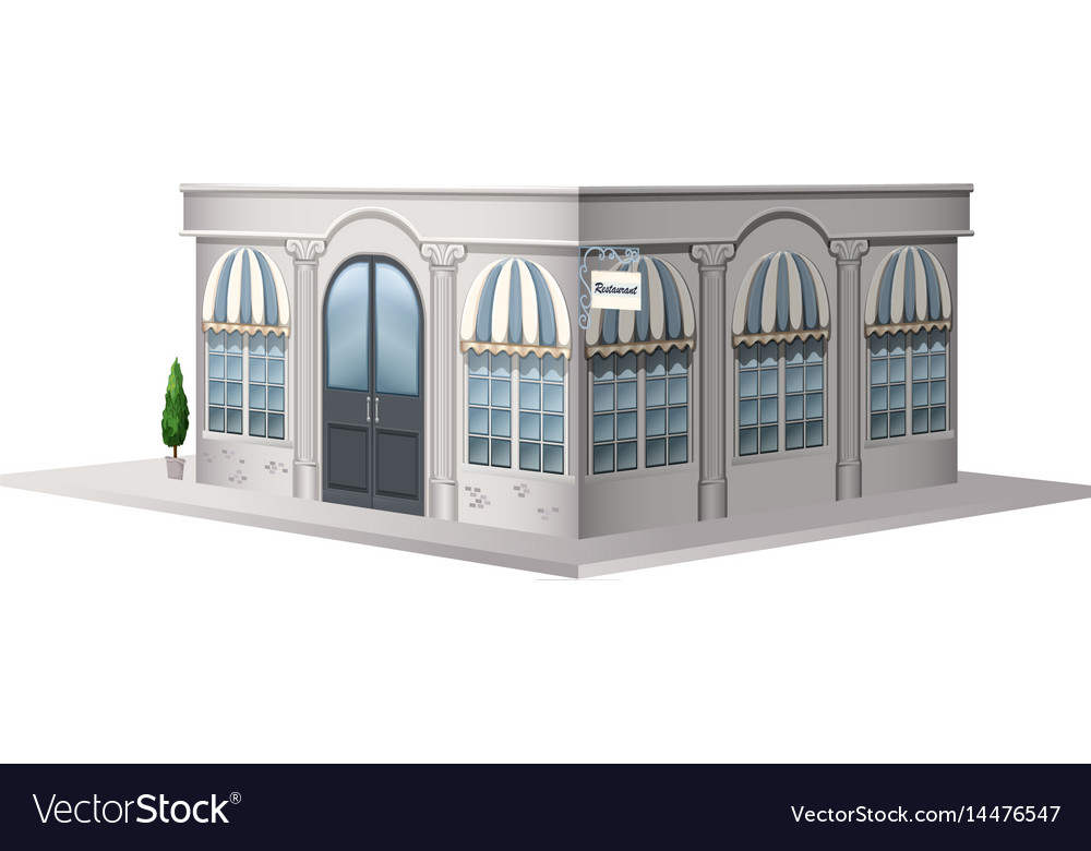 Architecture design for shop with vintage style vector image