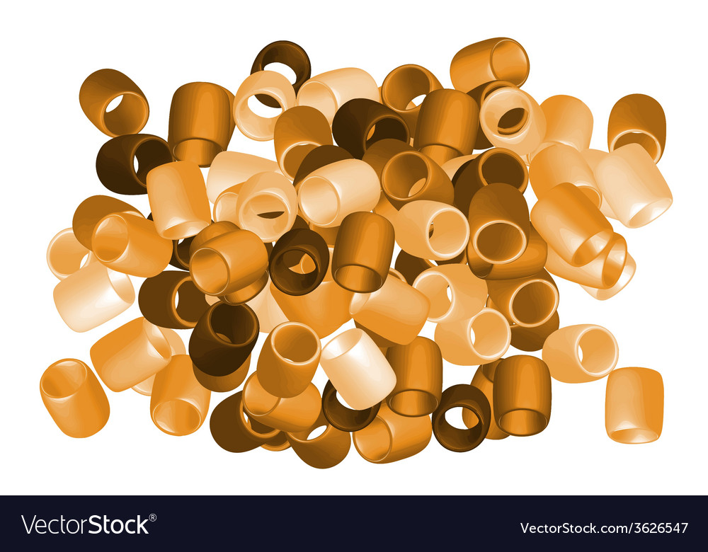 Beads cut out2 vector image