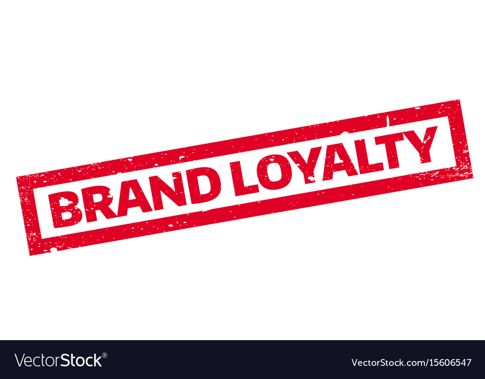 Brand Loyalty Rubber Stamp Vector Image