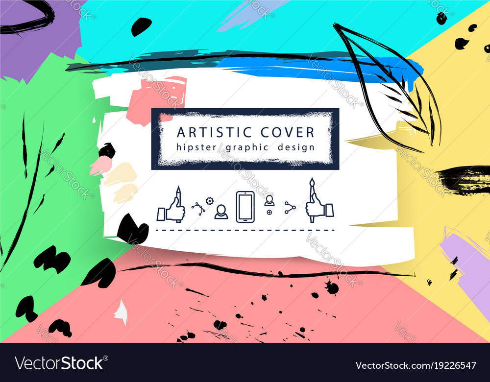 Creative universal floral artistic cover in vector image
