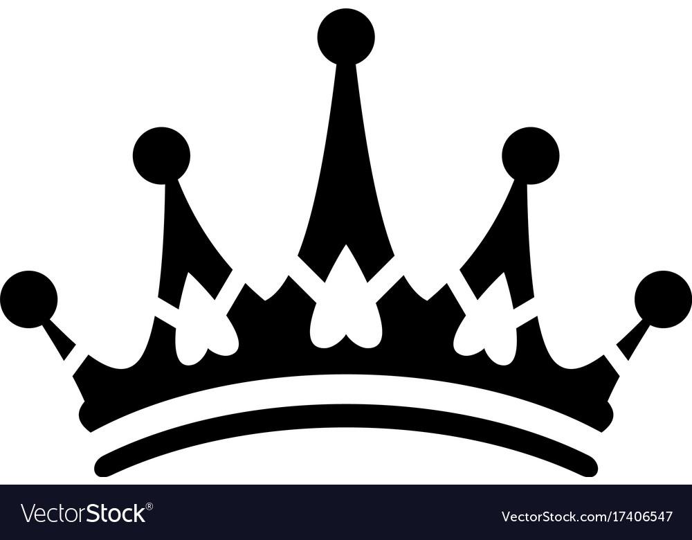 Crown sign icon logo