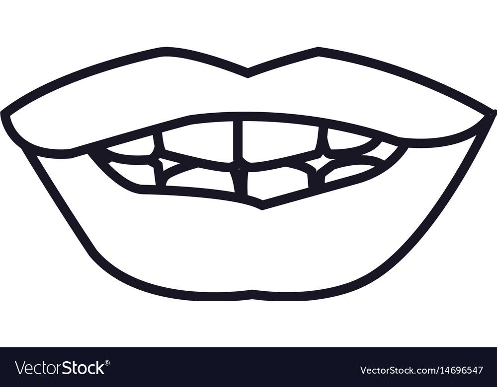 outline mouth lips woman expression royalty free vector