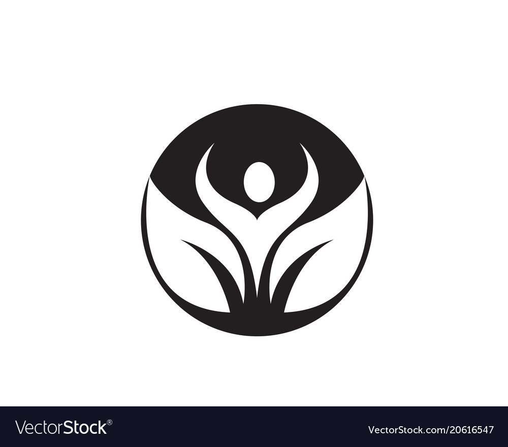 People care success health life logo template vector image