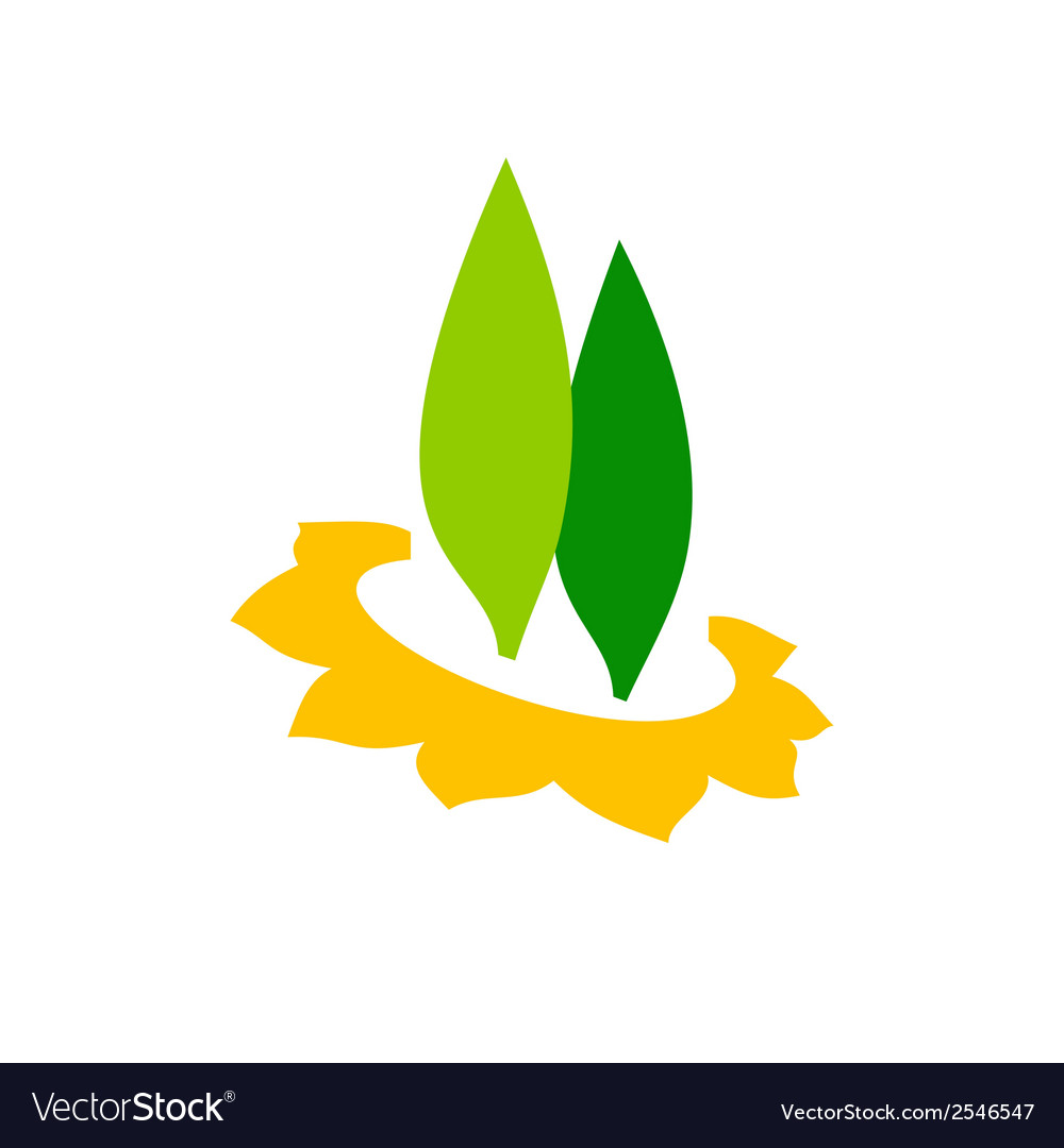 Planting trees sign vector image