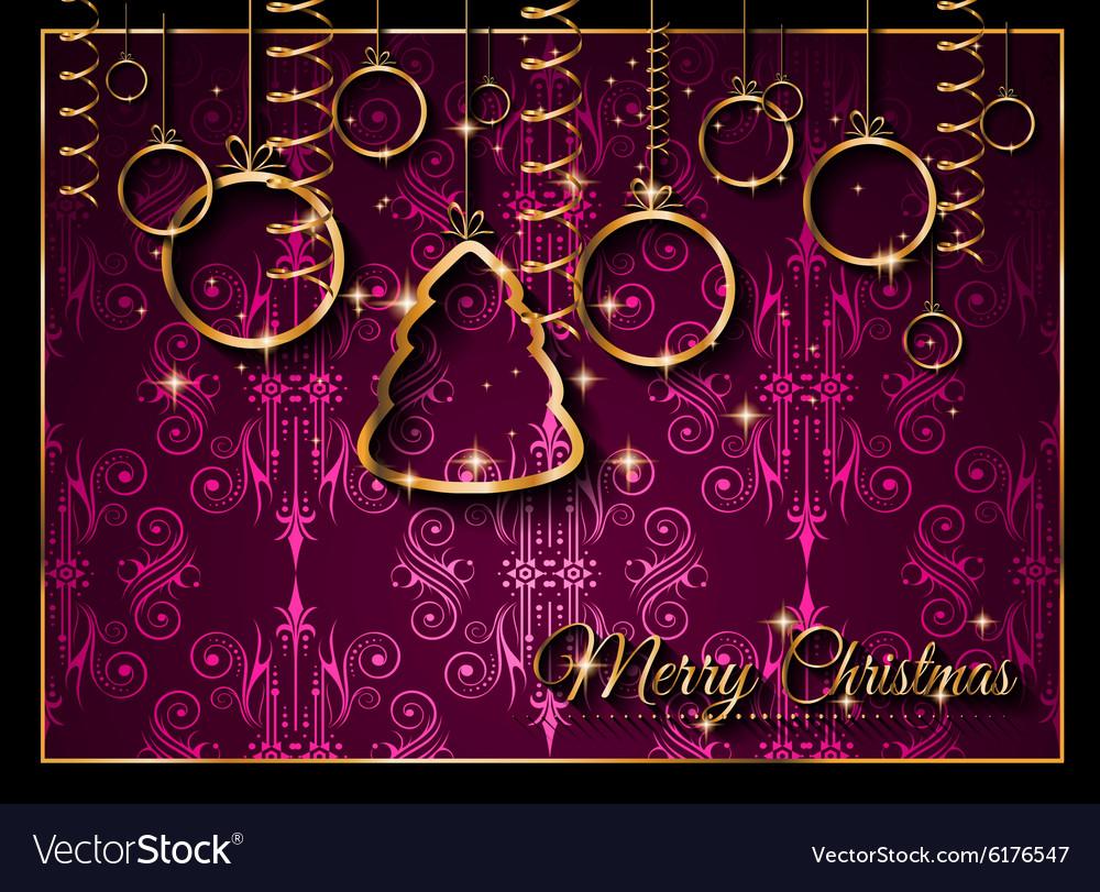 Seasonal Christmas Background for your Christmas vector image