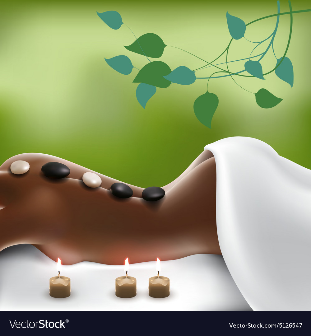Spa Stone Massage vector image