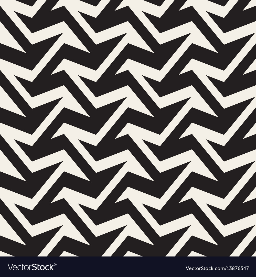 Zigzag edgy stripes optical effect