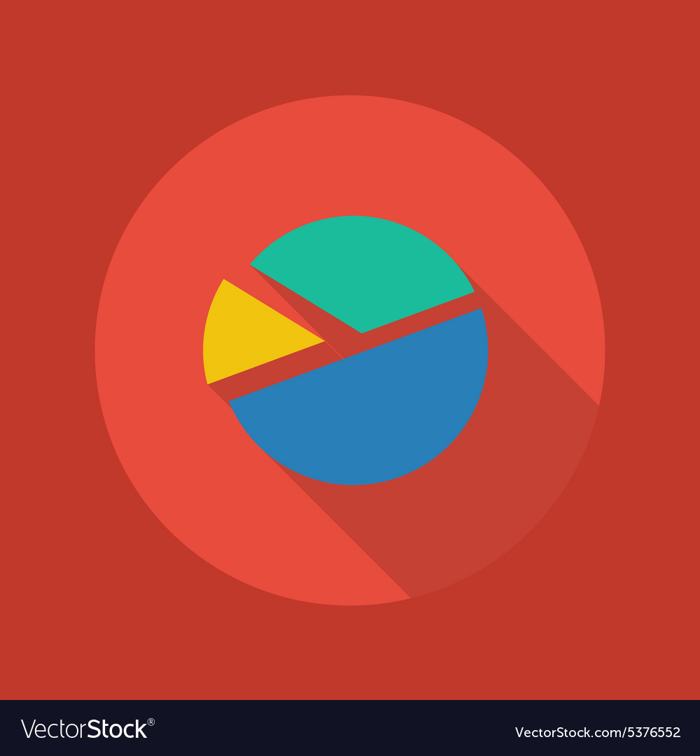 Business Flat Icon Pie Chart