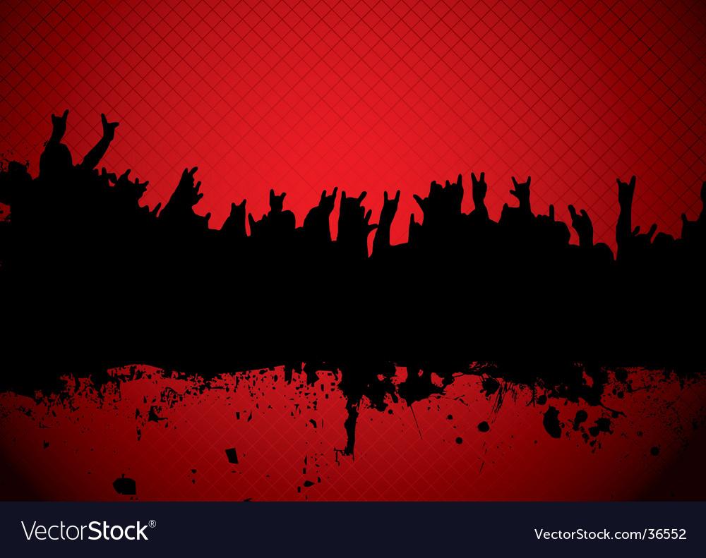 Concert crowd red vector image